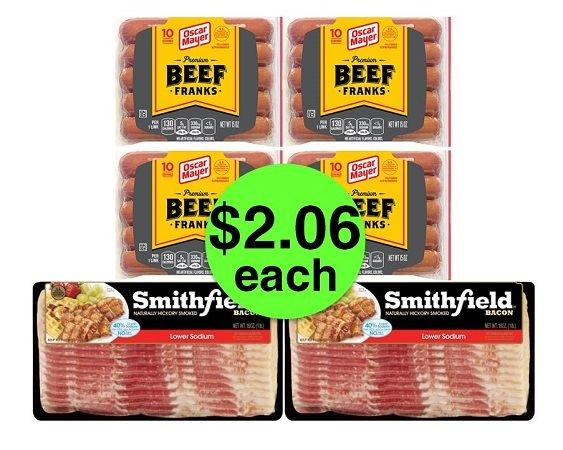 Don't Miss TWO (2!) Smithfield Bacon Packs & FOUR (4!) Oscar Mayer Beef Hot Dogs JUST $2.06 Each at Publix! ~ Ad Ends Today!
