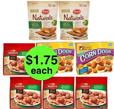 For Just $13.96, Pick Up (2) Tyson Chicken Naturals, (2) Corn Dogs & (4) Meatballs at Publix! ~ Starts Weds/Thurs!