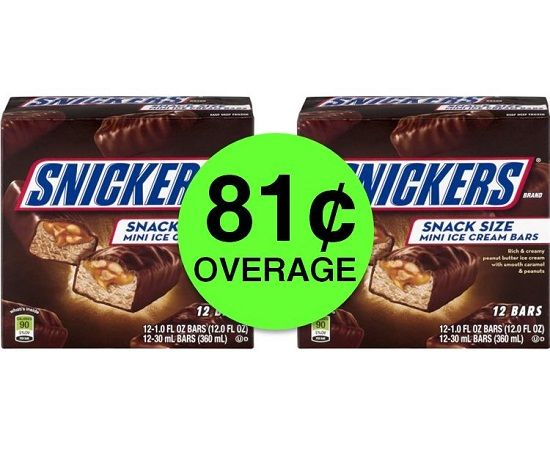 TWO (2!) FREE + 81¢ Overage on Snickers Snack Size Ice Cream Bars at Publix! ~ Starts Weds/Thurs!