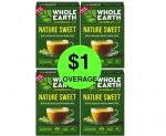 Find FOUR (4!) FREE + $1 Overage on Whole Earth Sweeteners at Publix! ~ Ends Friday!