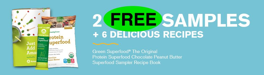 FREE Amazing Grass Super Food Sample Pack!