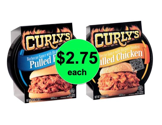 No Fuss BBQ! Curly's Pulled Pork or Chicken BBQ Only $2.75 Each at Publix! ~Ends Tomorrow!