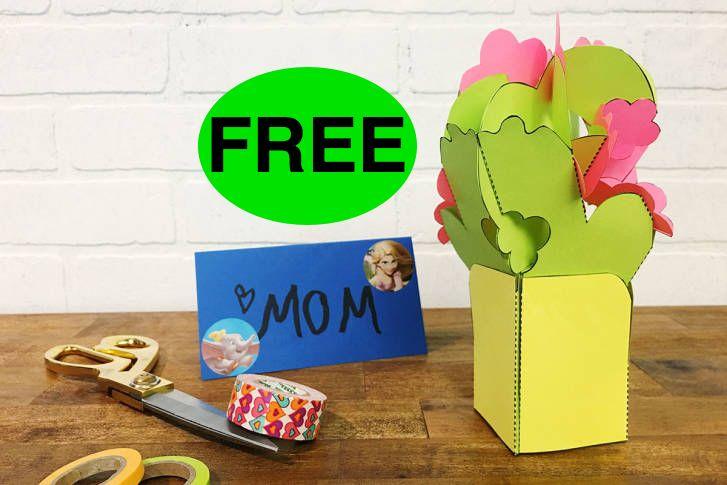 FREE DIY Popup Bouquet Craft!