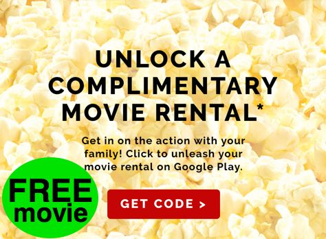 FREE Movie Rental on Google Play from Orville Redenbacher's!