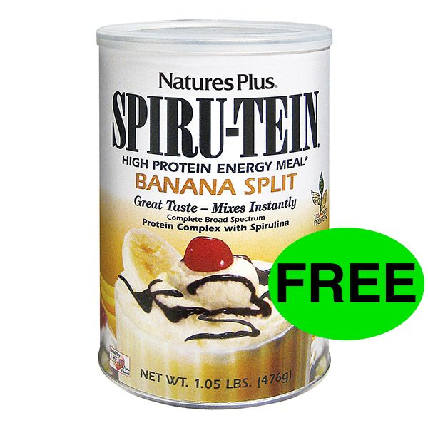 FREE Banana Split Spiru-Tein Shake!