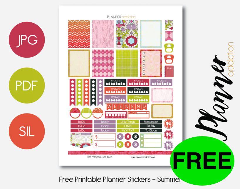 FREE Summer Planner Sticker Printables!