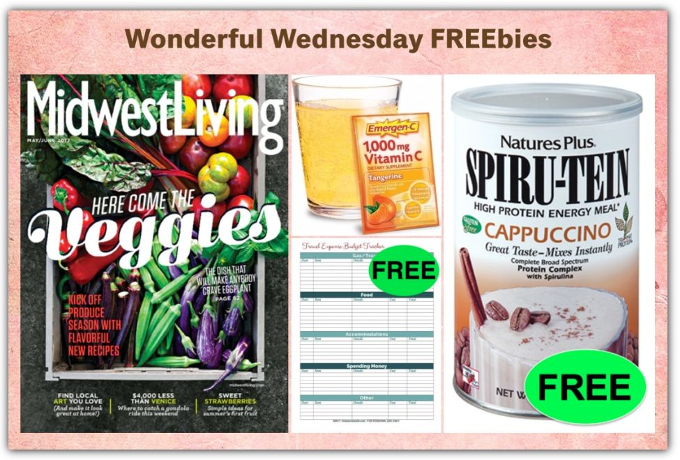 FOUR FREEbies: TWO Year Subscription To Midwest Living Magazine, Travel  Expense Budget Tracker Printable, Emergen C Packet And Natureu0027s Plus  Cappuccino ...