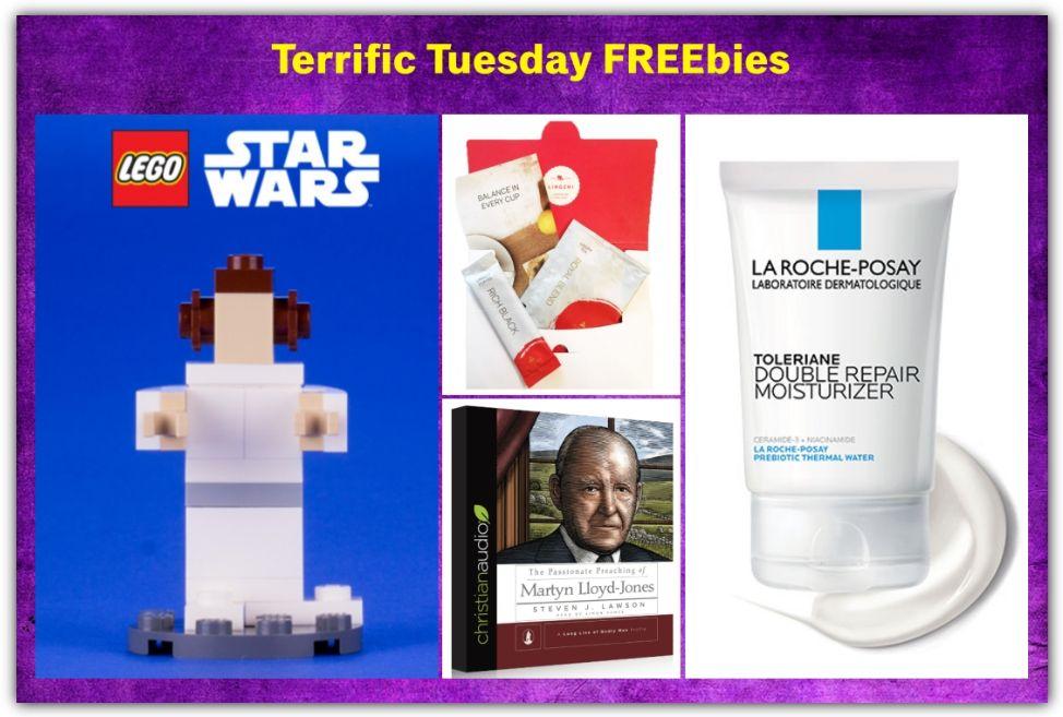 FOUR FREEbies: La Roche-Posay Toleraine Moisturizer, Lingzhi Coffee or Tea, Star Wars LEGO Princess Leia and Christian Audiobook!