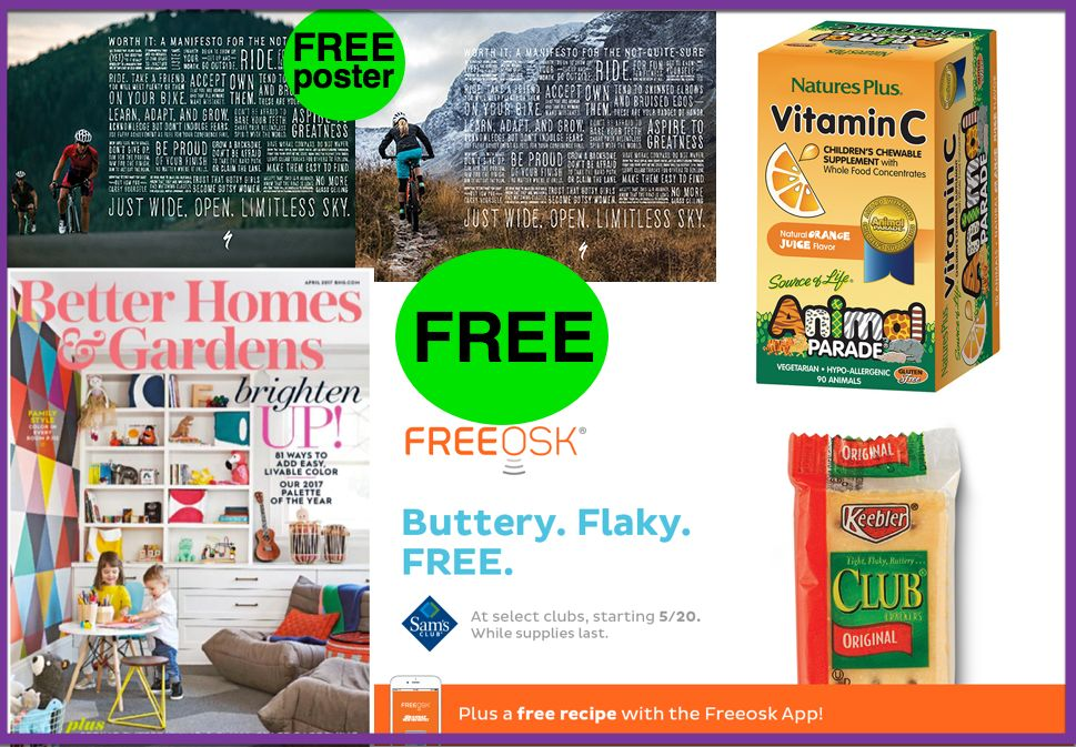 FOUR (4!) FREEbies: Keebler Club Crackers, Motivational Poster, One-Year Subscription to Better Homes & Gardens Magazine and Vitamin C Children's Chewables!