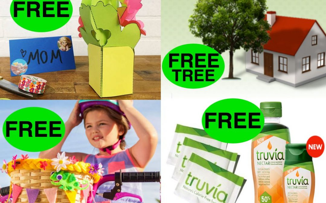 FOUR (4!) FREEbies: Full-Size Tree, Truvia Products, Tangled DIY Bike Basket and Popup Bouquet Craft!