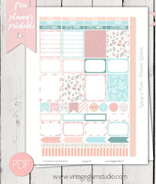 FREE Spring Planner Sticker Printable!