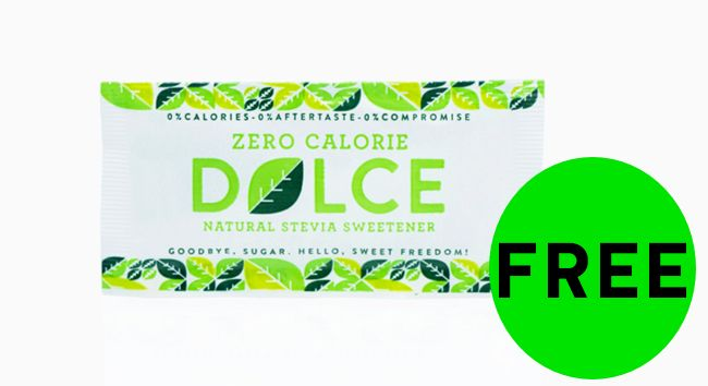 FREE Dolce Natural Stevia Sweetener!