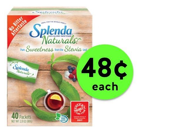 Sweeten Up with Splenda Naturals Stevia Sweetener As Low As 48¢ Each at Publix, Target or Walmart! ~ Going On Now!