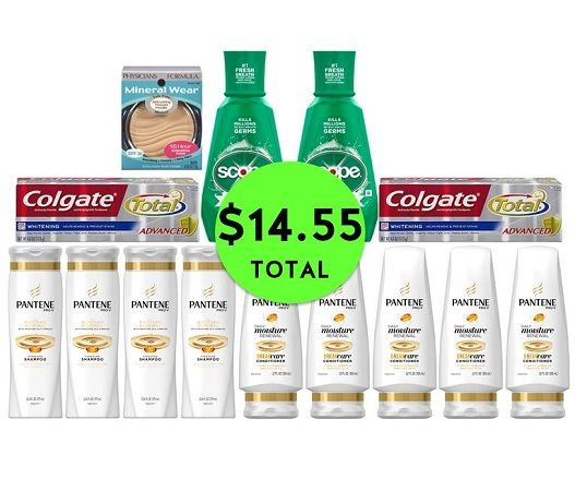 For Only $14.55 TOTAL, Get (1) Face Powder, (2) Colgate Toothpastes, (2) Scope Mouthwashes & (9) Pantene Hair Care This Week at CVS!