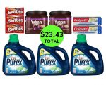 For Only $23.43 TOTAL, Get (2) Toothpastes, (2) Coffee Canisters, (3) Skittles & (3) BIG Jug Detergents This Week at CVS!