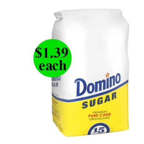 Sweeten Up with Domino Pure Cane Sugar Only $1.39 Each at Walgreens! ~ Starts Sunday!