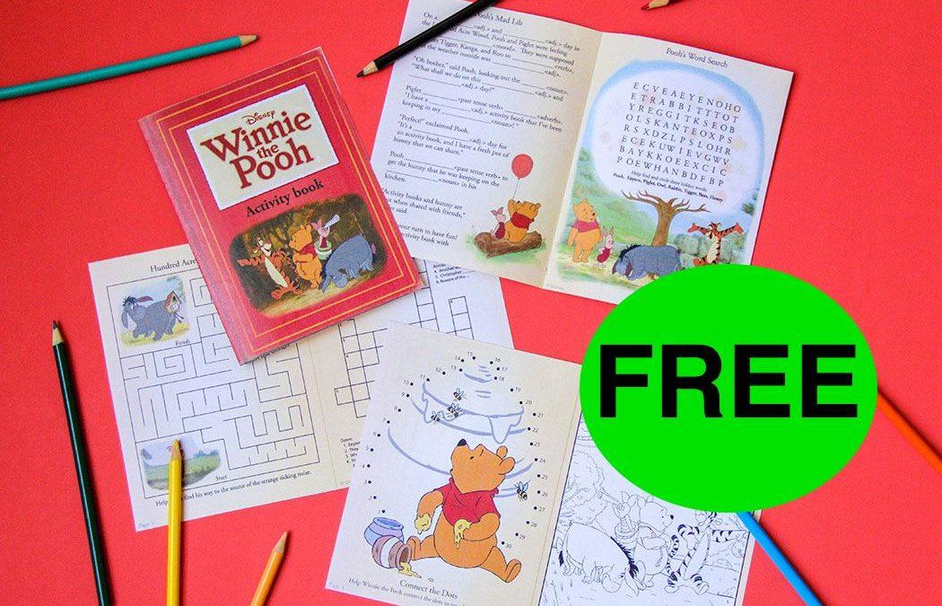 FREE Winnie the Pooh Activity Book!