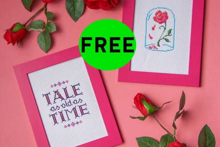 FREE Beauty and the Beast Cross Stitch DIY Craft!