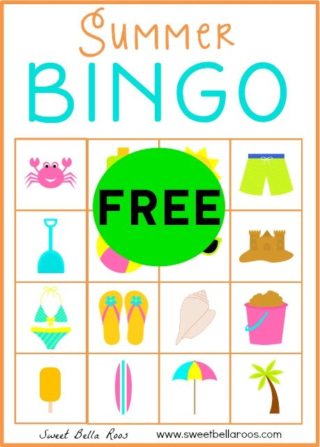 FREE Summer Bingo Printable!