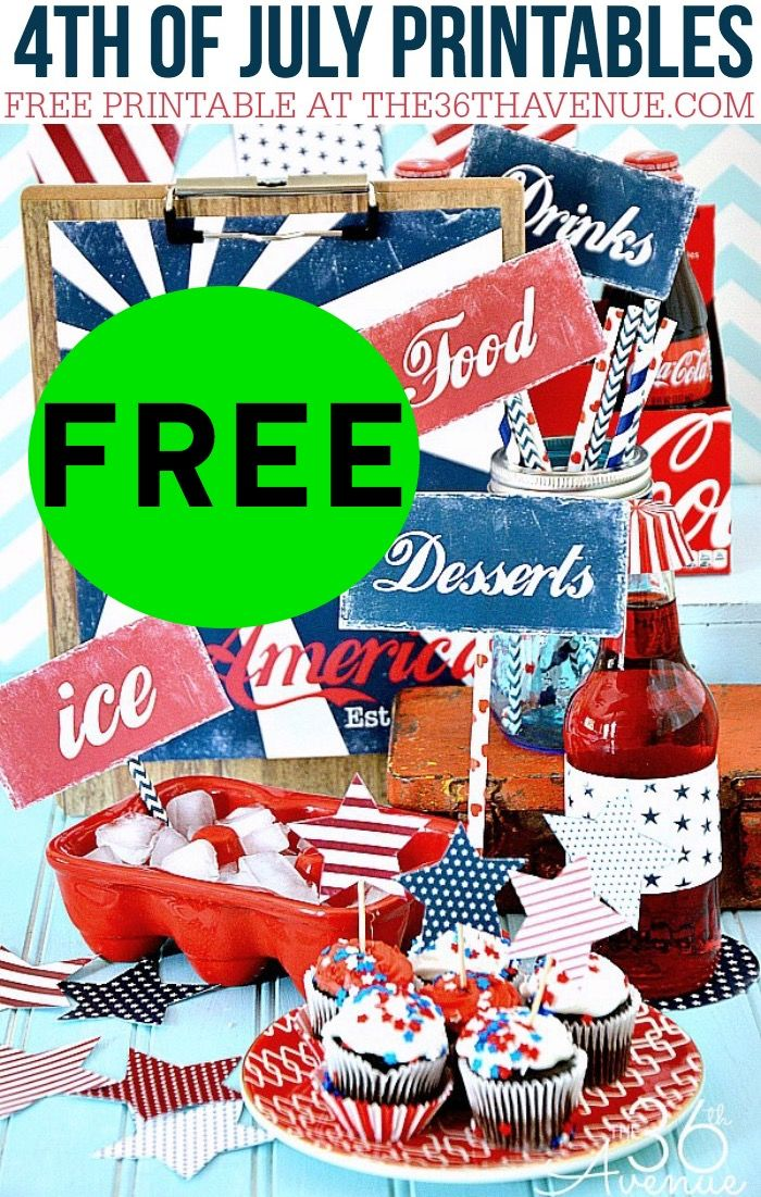 FREE 4th of July FREE Printable Party Set!