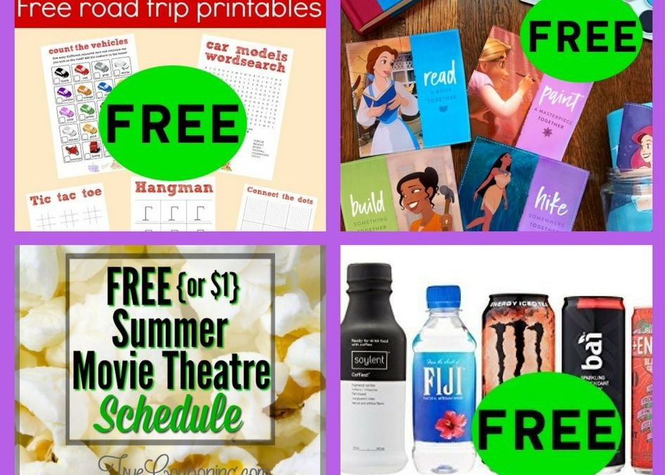 FOUR (4!) FREEbies: Road Trip Travel Printables, Disney Princess Father's Day Coupons, Summer Movies and Amazon Drink Sample Box!