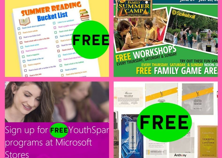 FOUR (4!) FREEbies: Summer Reading Bucket List, Bass Pro Family Summer Camp, YouthSpark Kids Camp at Microsoft and Men's Luxury Sample Box!