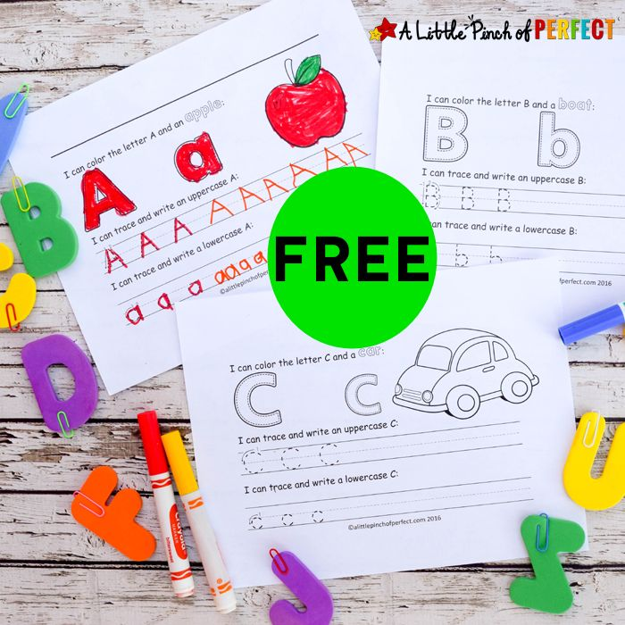 FREE Learning to Write Printables (OVER 20 pages!)