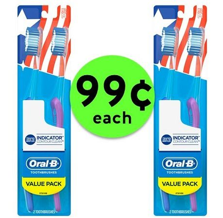 Don't Miss 99¢ Oral B Indicator Contour Clean Toothbrush 2 Packs at CVS! ~ Ends Saturday!