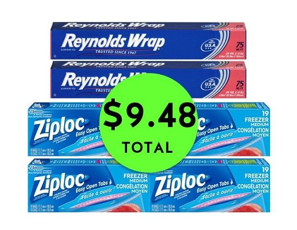 Stock Up With 2 Reynolds Foil Bo 4 Ziploc Bags Or Containers All For Just 9 48 Total 1 58 Each After Stacked Coupons Free 5 In Gas E Cash