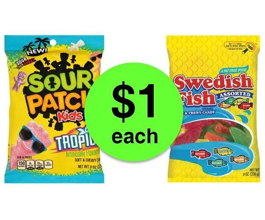 Pucker up for 1 sour patch or swedish fish candy at for Sour swedish fish