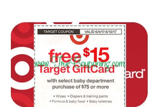 *Heads Up* This Sunday (6/4/17) We're Getting a FREE $15 Gift Card wyb $75+ Baby & FREE $5 Gift Card wyb $20+ Food Target Coupon!