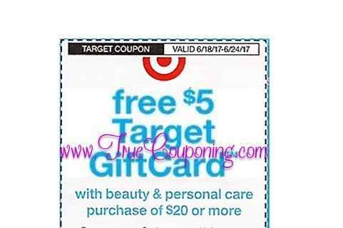 *Heads Up* This Sunday (6/18/17) We're Getting a FREE $5 Gift Card wyb $20 Personal Care Target Coupon!