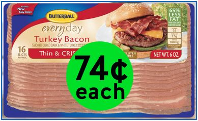 "Did You Get Your ""Better for You"" Deal on Butterball Turkey Bacon Only 74¢ Each at Walgreens! ~ Ends Today!"