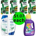 Don't Miss the Over $37 Worth of Schick Razor Packs, Head & Shoulders Hair Care, Xtra Laundry Detergent & Movie Ticket You Get This Week at Walgreens for Only $7.25!