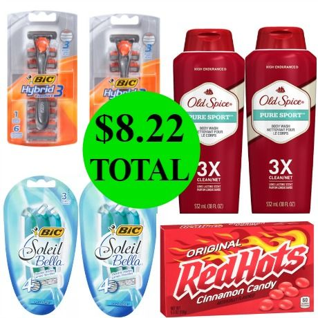 Don't Miss the $32 Worth Of Bic Razor Packs, Old Spice Body Wash & Boxed Candy You Get This Week at Walgreens For Only $8.22 TOTAL