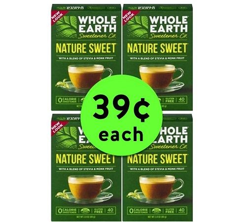 Sweet Deal! Pick Up $0.39 Whole Earth Sweetener Packets (Reg. $3.49) at Target! ~ This Week Only!