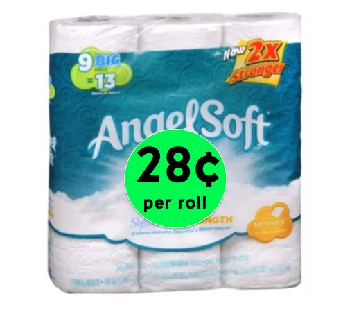 Stock Up on Angel Soft Bath Tissue ONLY 28¢ per Roll at Walgreens! ~ Right Now!
