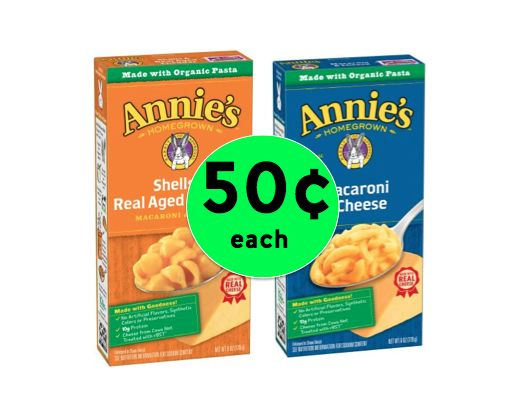 Kid Favorite! Pick Up Annie's Homegrown Mac and Cheese Only 50¢ Each at Winn Dixie! ~Right Now!
