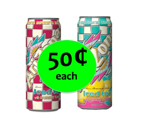 Cool Down with Arizona Iced Tea ONLY 50¢ Each at Winn Dixie! ~ Right Now!