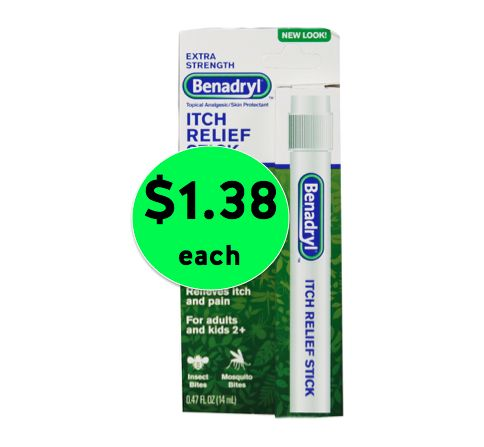 Itch Be Gone! Pick Up Benadryl Itch Relief Sticks for Only $1.38 Each at Walmart! ~ Right Now!
