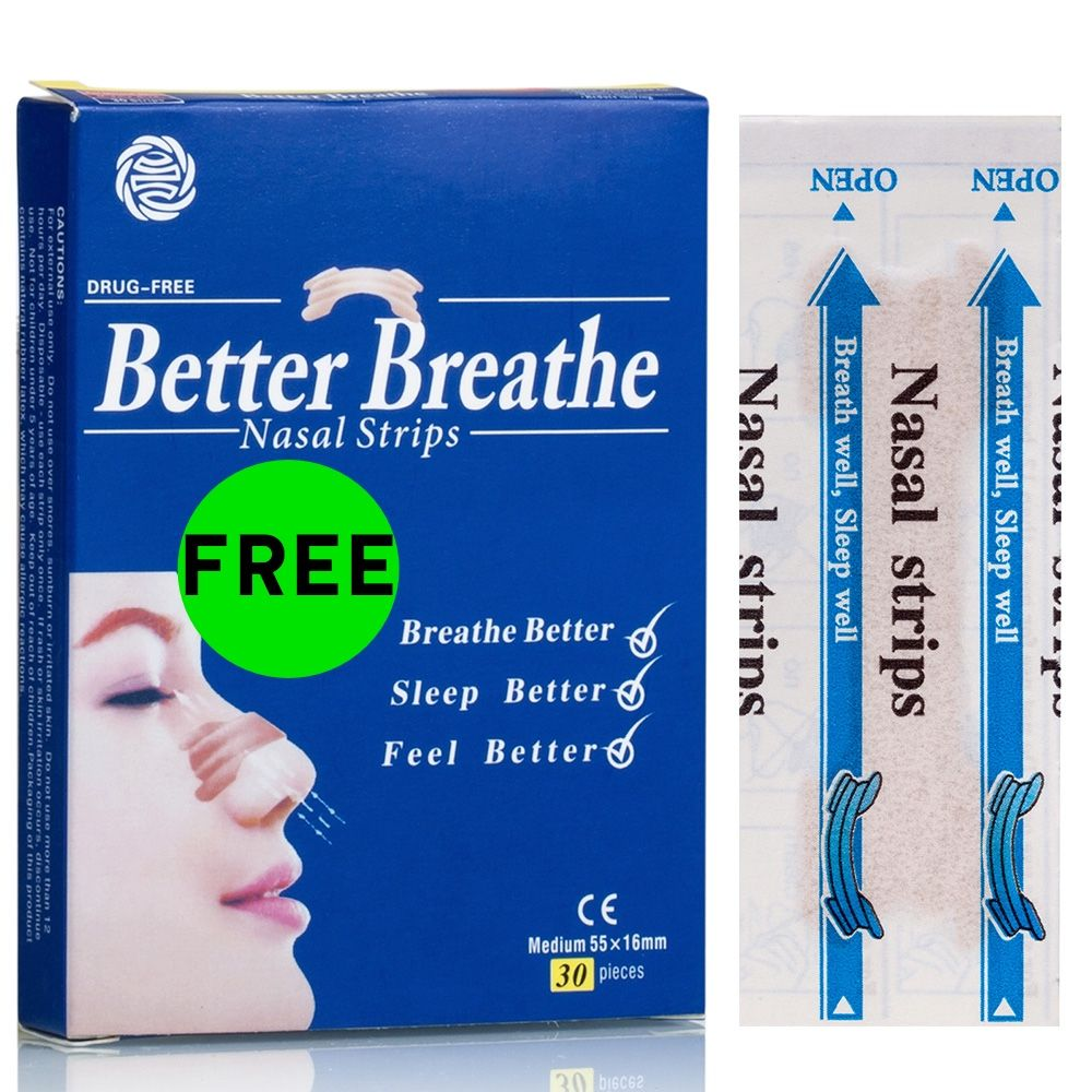 free better breathe nasal strips
