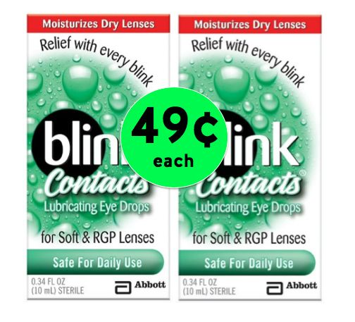 Dry Eyes with Contacts?! Get TWO (2!) Boxes of Blink Contact Eye Drops for Only 49¢ Each at Target! ~ Ends Saturday!