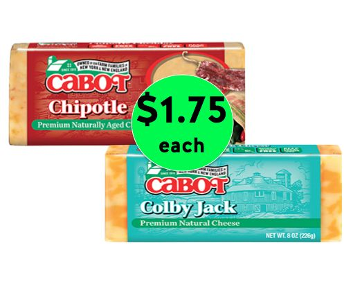 Mmmmmm Cheese! Pick Up TWO (2!) Bars of Cabot Cheese Only $1.75 Each at Winn Dixie! ~Starts Today!