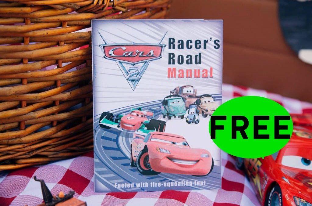 FREE Disney Cars Road Racer Manual for Kids Printable!