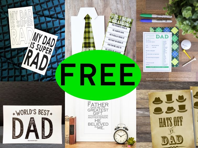 FREE Father's Day DIY Printable Cards Round-Up!
