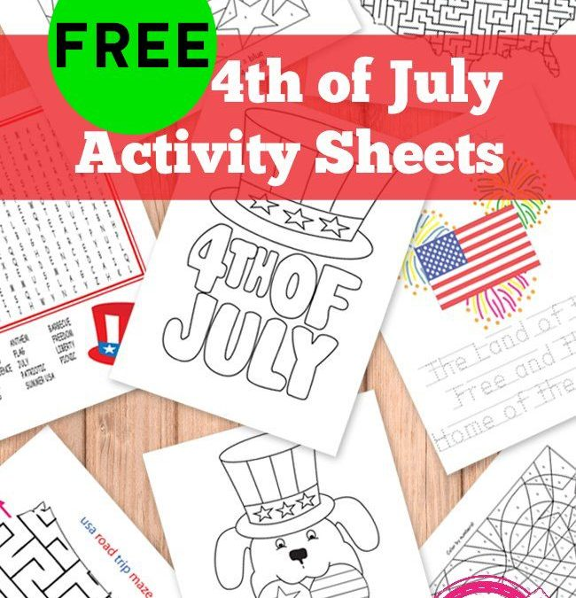 FREE 4th of July Kids Activity Printables!