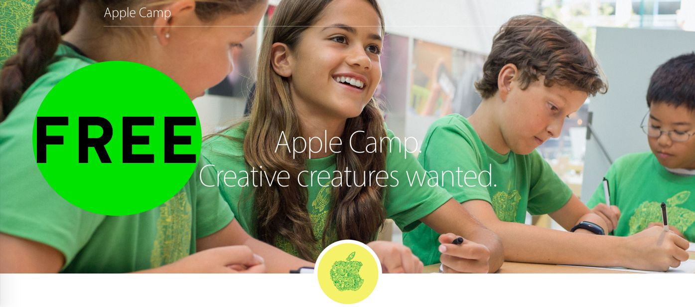 FREE Apple Store 3-Day Workshops for Kids!
