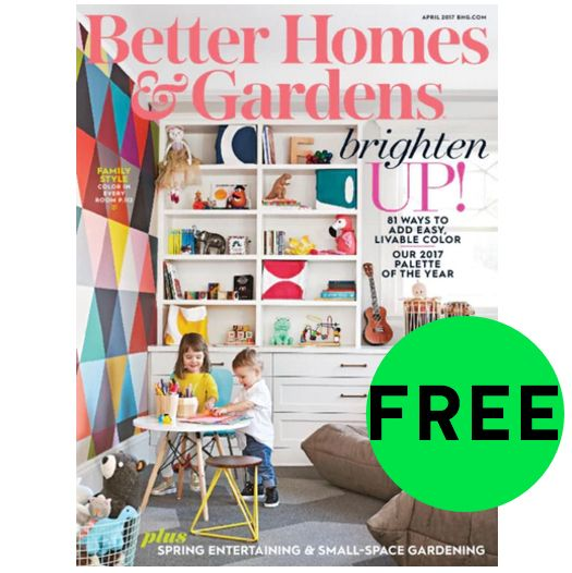 Four 4 Freebies Annual Subscription To Better Homes