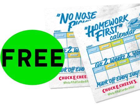 FREE Chuck E. Cheeses Calendar Printables!