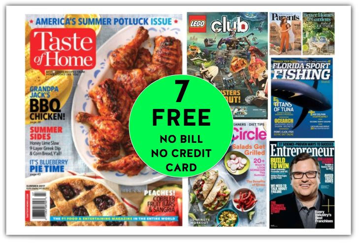 FREE Taste of Home Annual Magazine Subscription {PLUS SIX (6!) Other FREE Magazine Subscriptions!}